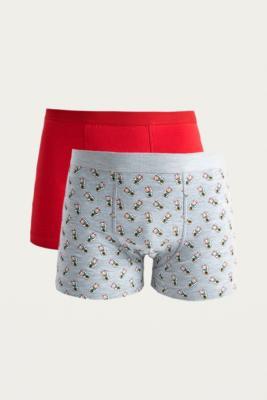 Uo   Lot De 2 Boxers Avec Imprimé Chats by Urban Outfitters