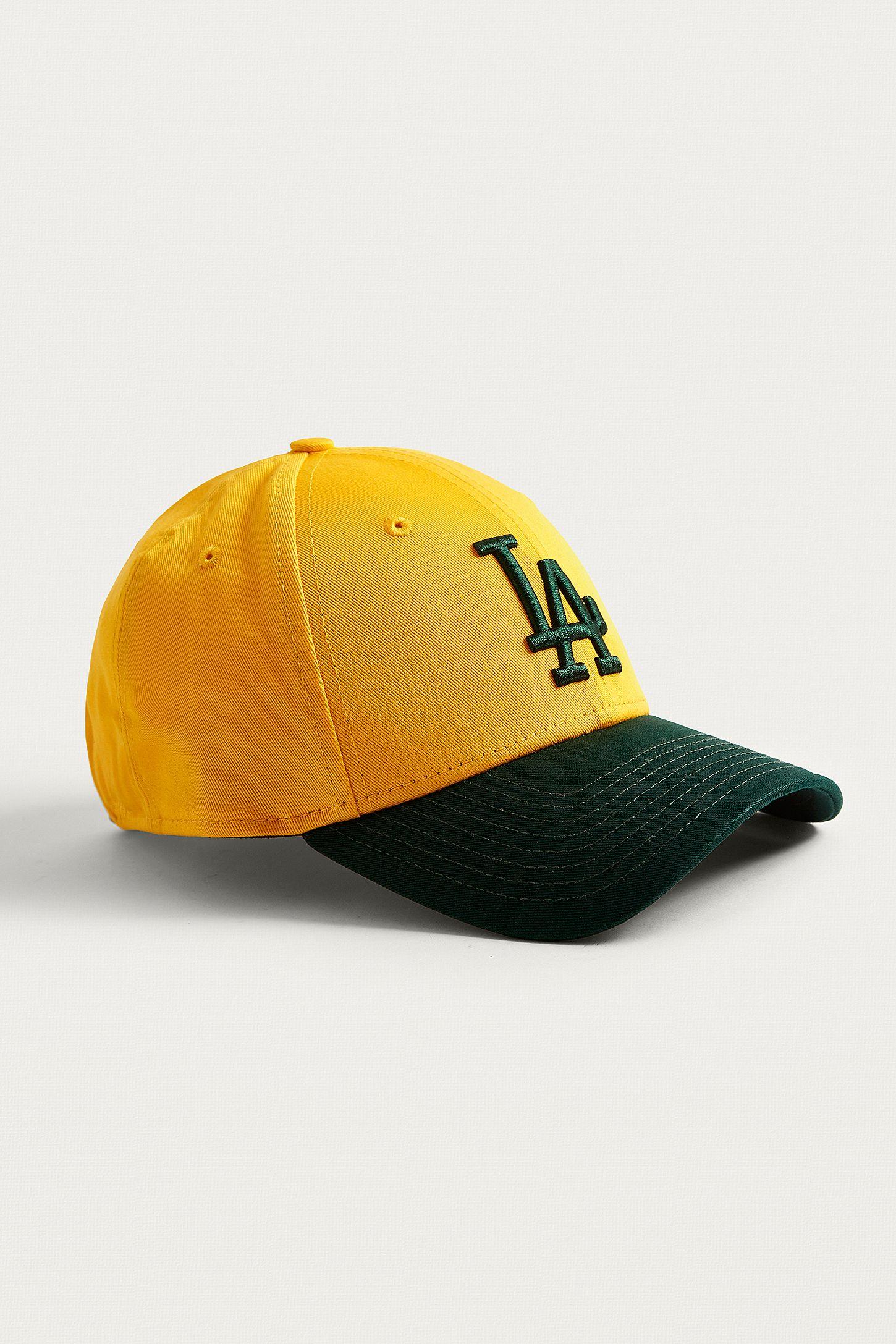 New Era 9 FORTY LA Dodgers Yellow and Green Cap  aec3349572b