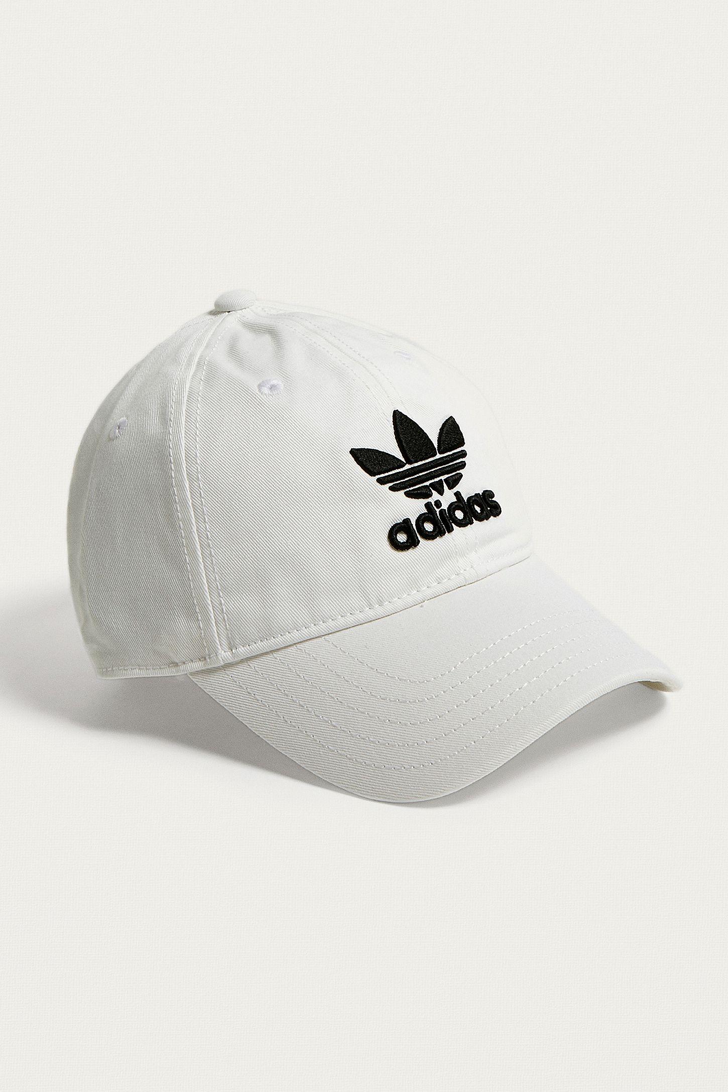 adidas Originals White Trefoil Dad Cap  4f567aab8ed