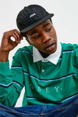 OBEY Tender Black Nylon Cap - black at Urban Outfitters