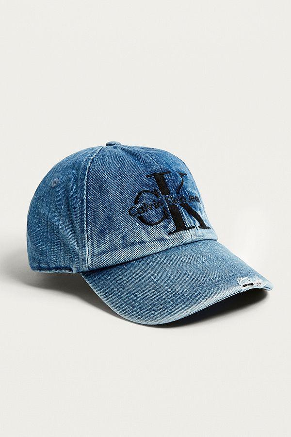 Calvin Klein Reissue Denim Baseball Cap  7a09401190c