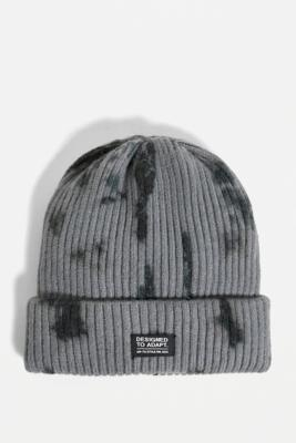 UO Designed to Adapt Black Tie-Dye Beanie - Black ALL at Urban Outfitters