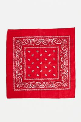 UO Paisley Bandana Scarf - Red ALL at Urban Outfitters