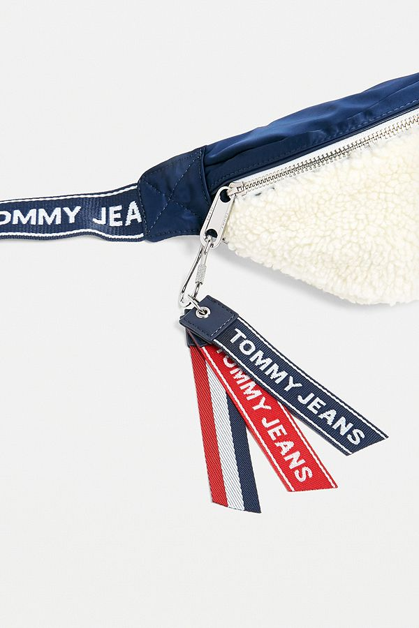 Tommy Jeans Logo Tape Teddy Cross Body Bag   Urban Outfitters UK bc0fdf092a