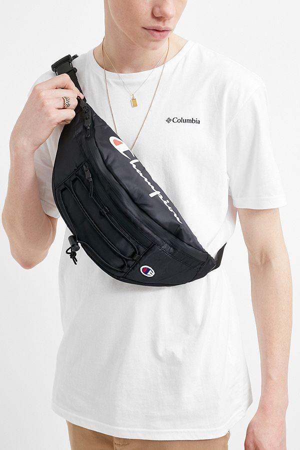 Slide View 1 Champion Black Cross Body Bag