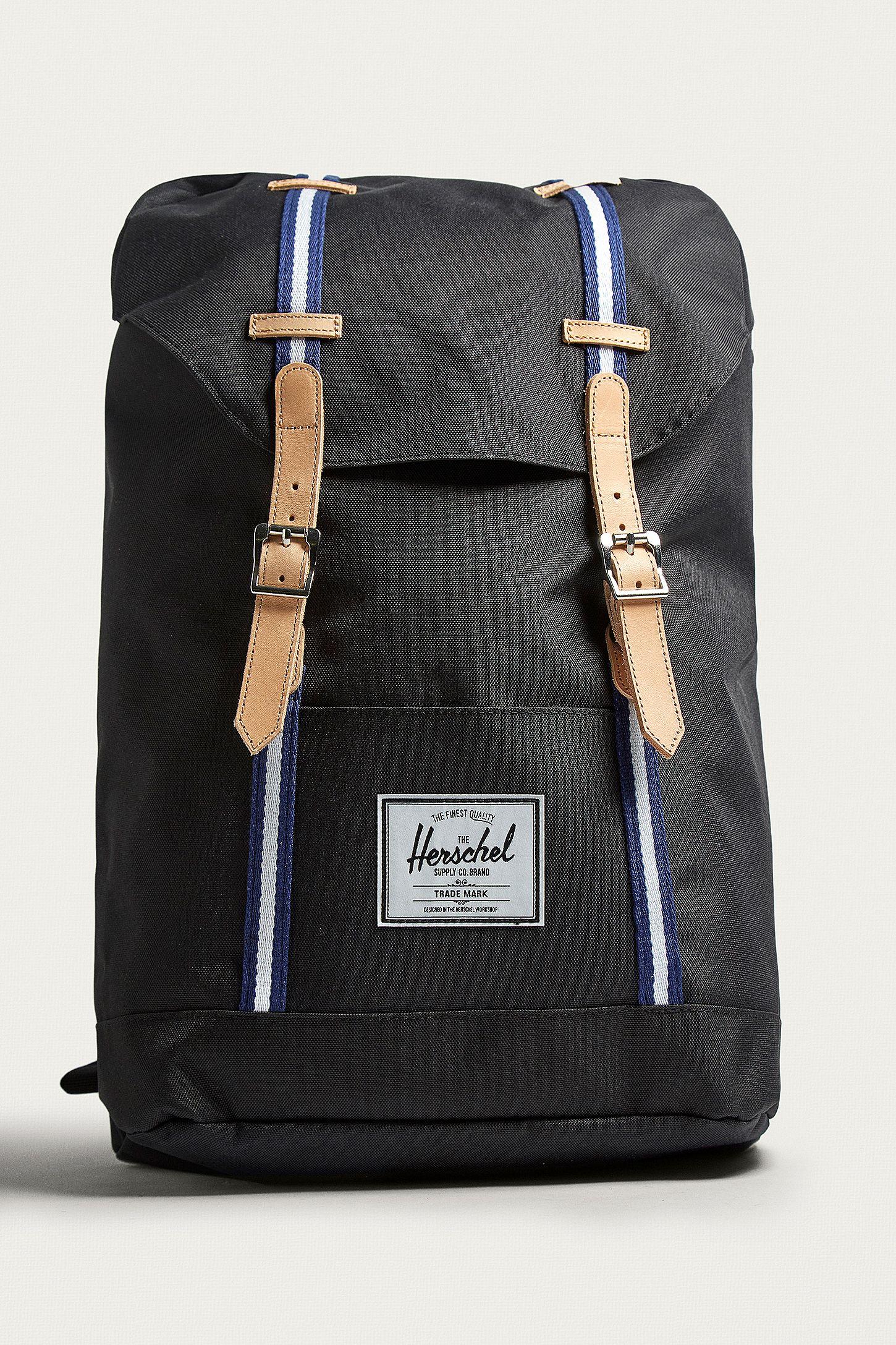 Herschel Supply Co. Retreat OFST Black and Blue Backpack   Urban ... b2d23e2025