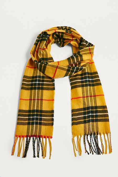 UO Yellow Plaid Scarf