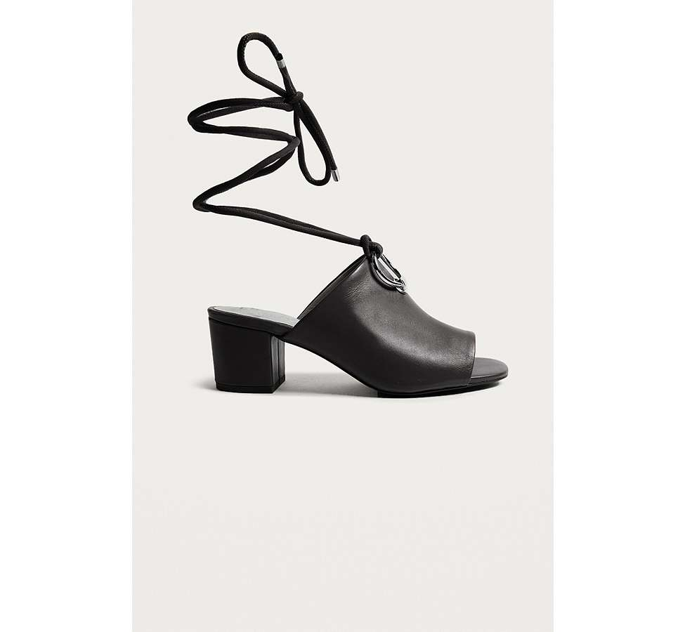 Slide View: 1: E8 by Miista Mason Ring Black Ankle Strap Mules