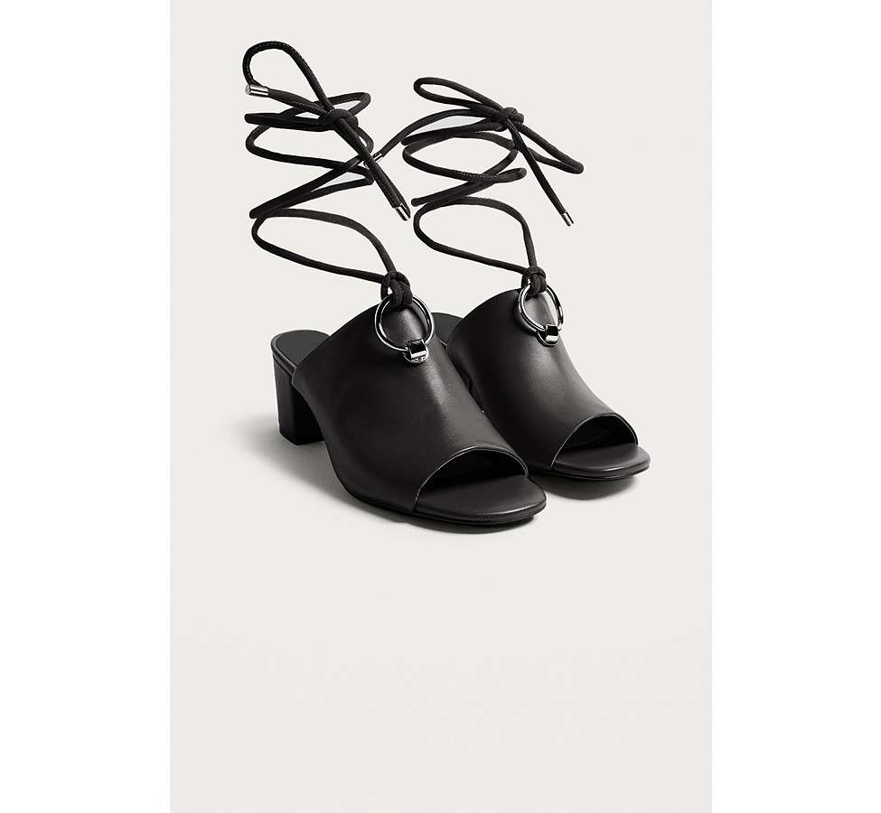 Slide View: 2: E8 by Miista Mason Ring Black Ankle Strap Mules