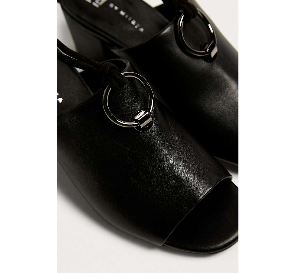 Slide View: 3: E8 by Miista Mason Ring Black Ankle Strap Mules