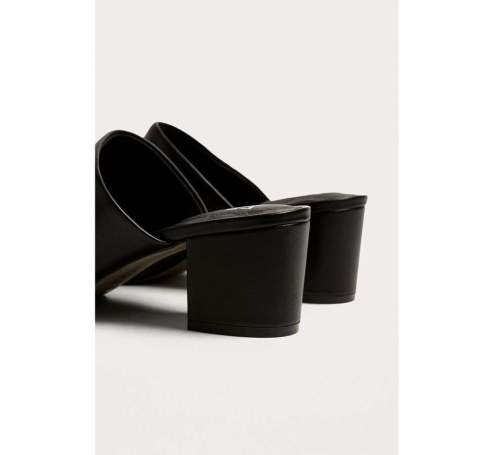 Slide View: 4: E8 by Miista Mason Ring Black Ankle Strap Mules