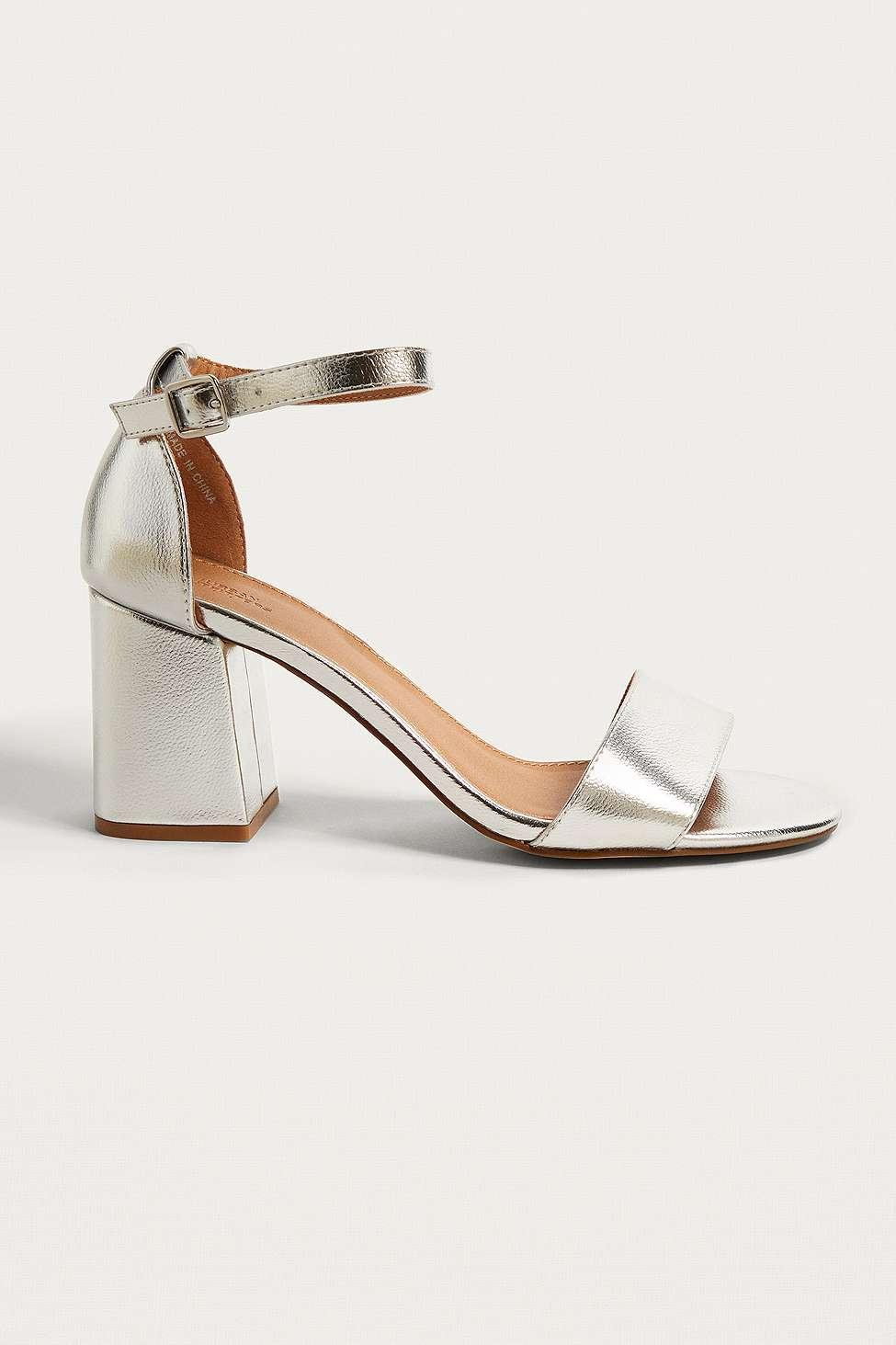 Linda Metallic Heels, Silver