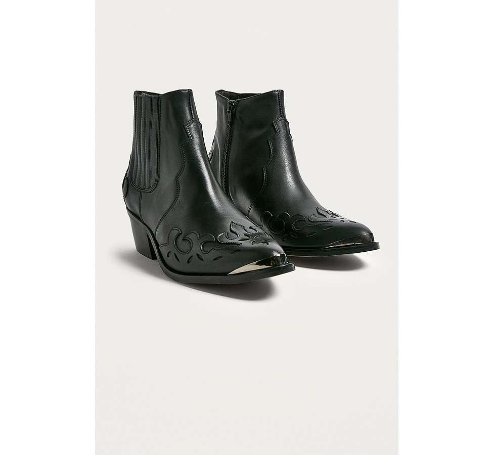 Slide View: 2: Bottines western Jessie en cuir