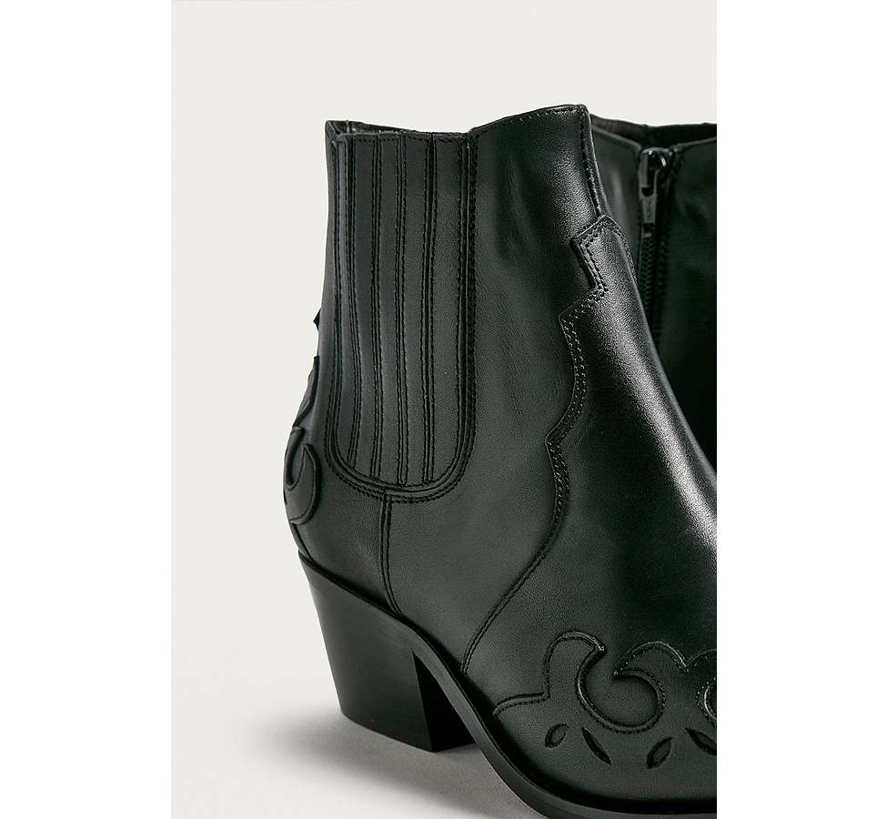 Slide View: 3: Bottines western Jessie en cuir