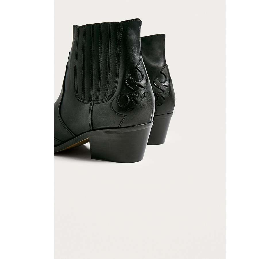 Slide View: 4: Bottines western Jessie en cuir