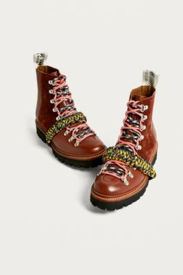 House Of Holland X Grenson Brown Hiker Boots by House Of Holland