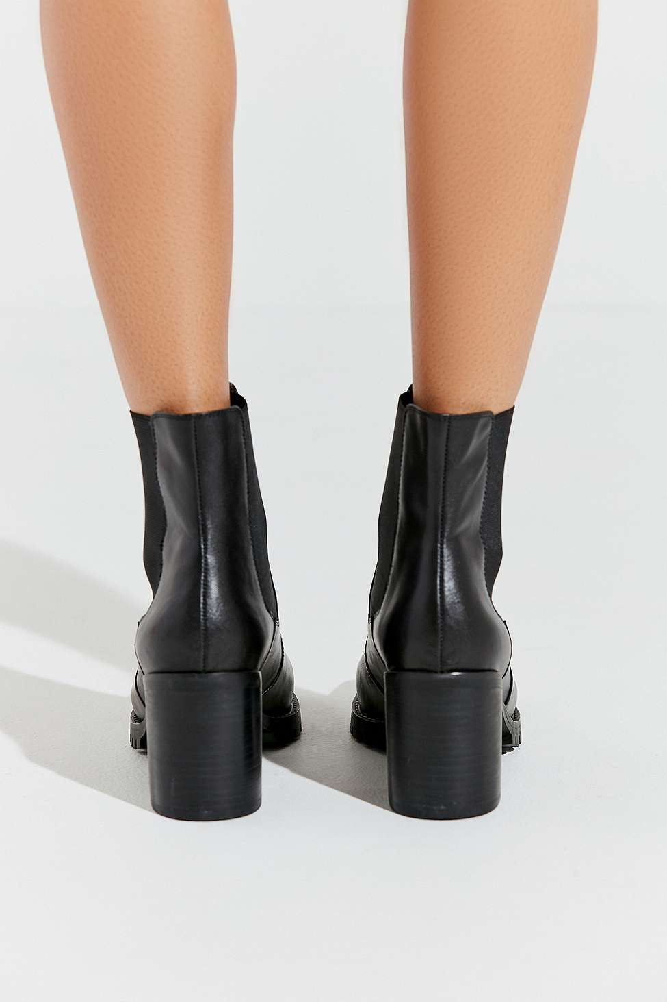 Uo Alex Square Toe Black Chelsea Boots by Urban Outfitters