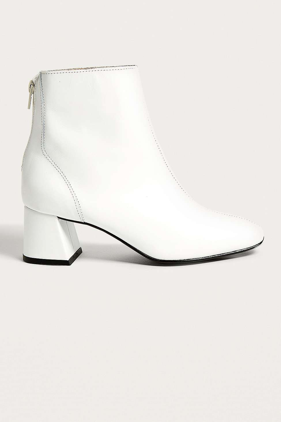 Bianca Heeled Leather Boots, White