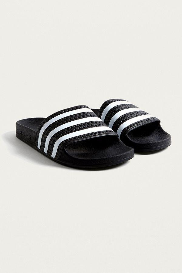adidas Originals Claquettes Claquettes Claquettes Adilette noires Urban Outfitters FR 982bb4