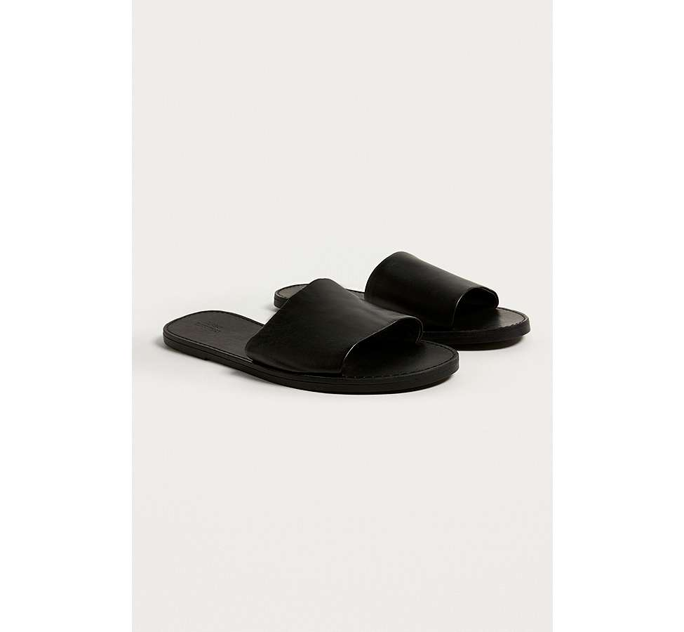 Slide View: 2: UO Mia Leather Sliders