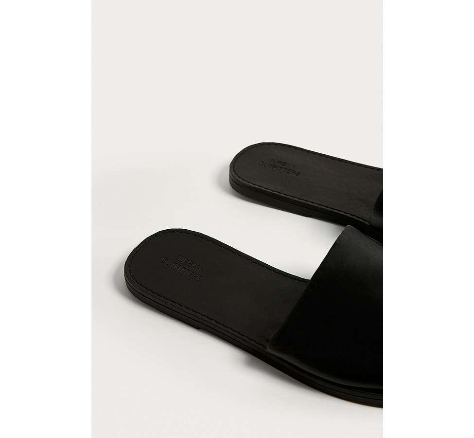 Slide View: 3: UO Mia Leather Sliders