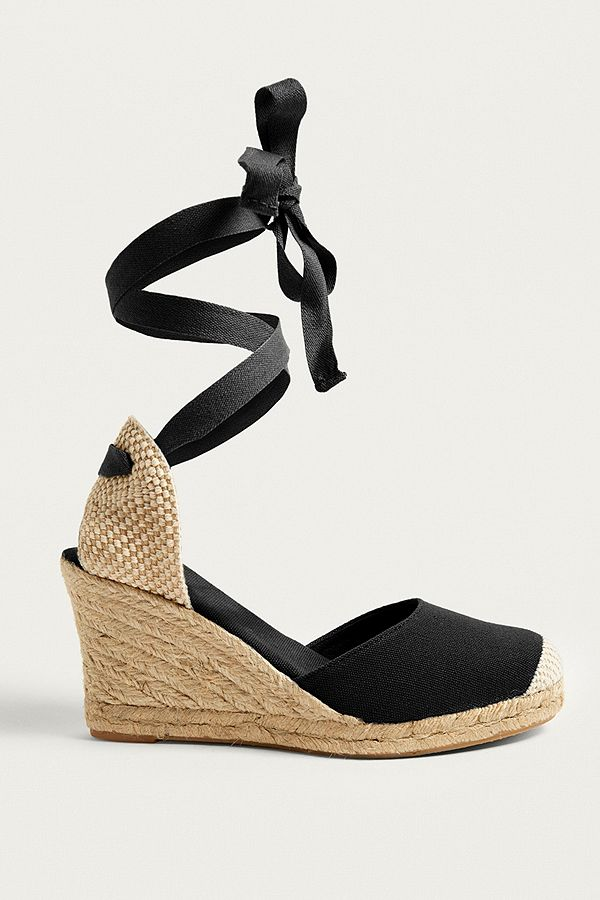 Slide View: 1: UO Erin Espadrille Wedge Sandals
