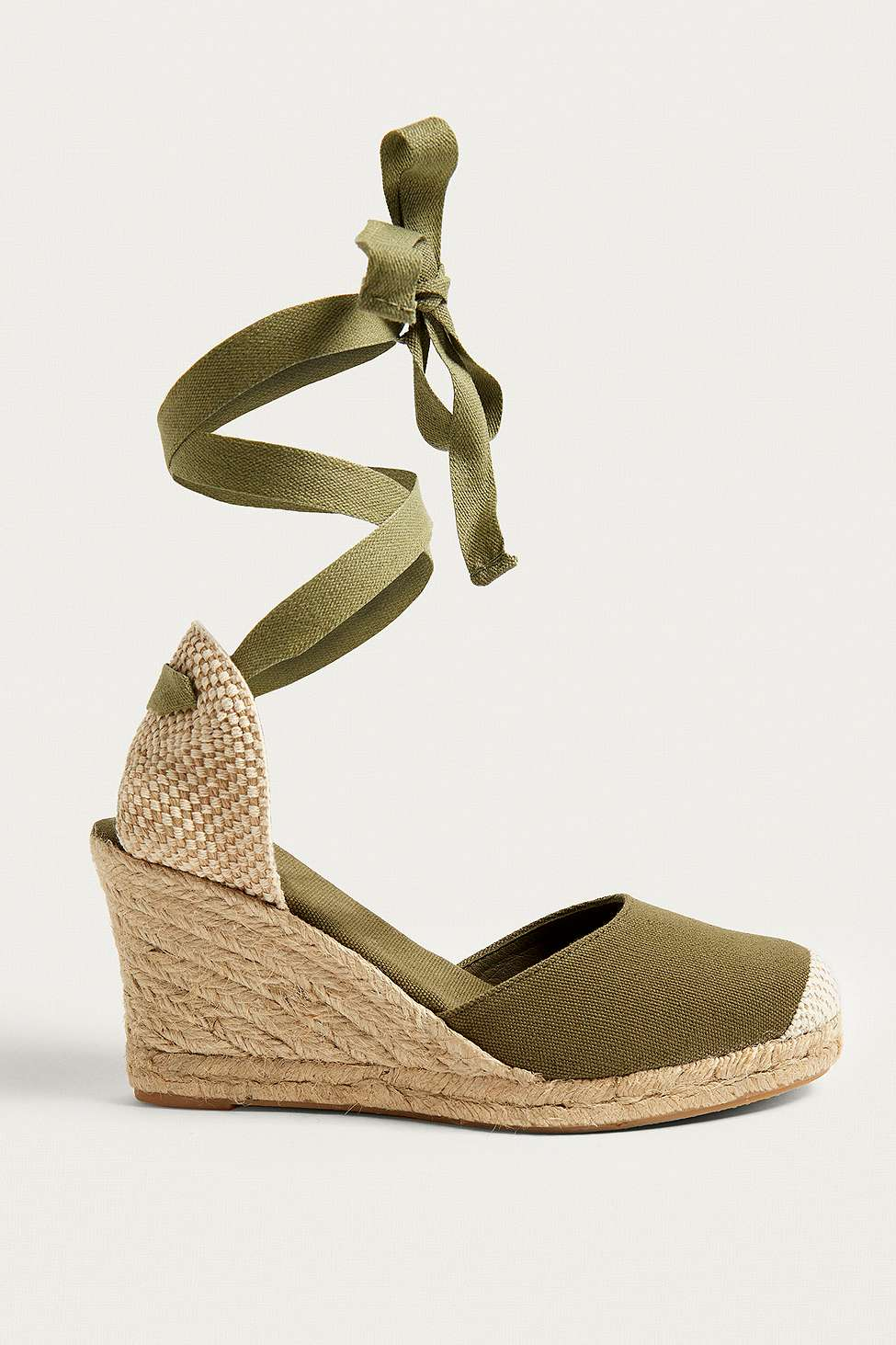 UO Erin Espadrille Wedge Sandals, Khaki