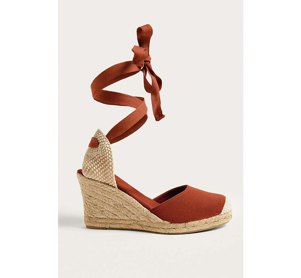Slide View: 1: UO Erin Espadrille Wedge Sandals