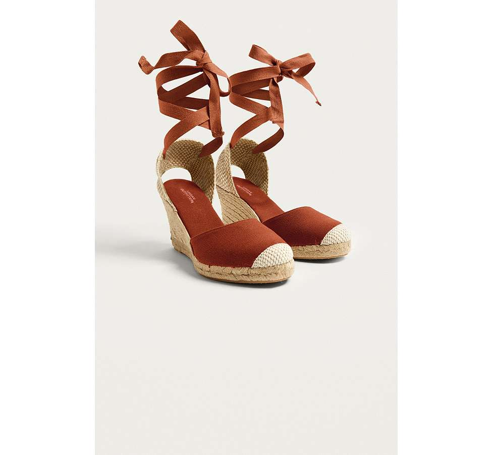 Slide View: 2: UO Erin Espadrille Wedge Sandals