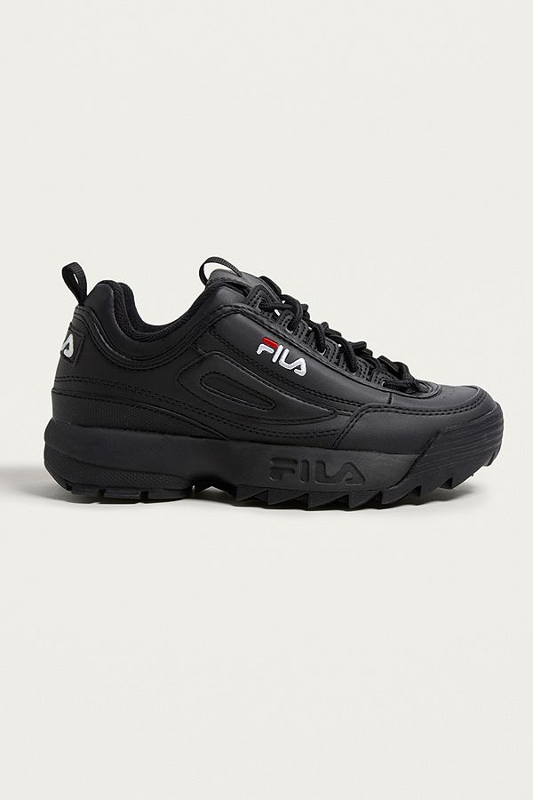 Slide View  1  FILA Disruptor Women s Core Black Trainers 670e0b386