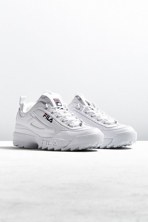 Slide View  1  FILA Disruptor Women s Core White Trainers e2ceee795