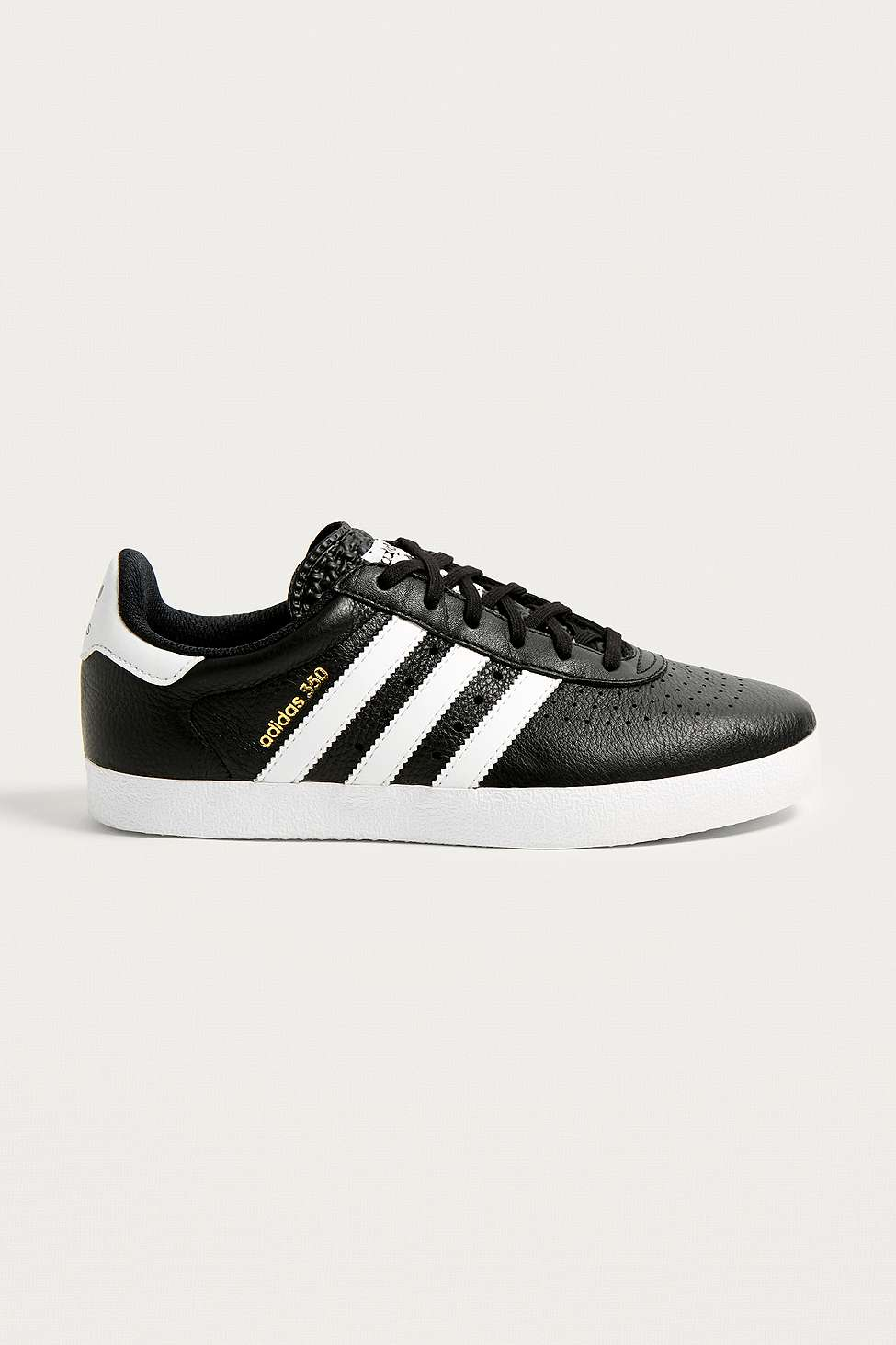 adidas Originals 350 Leather Trainers, Black Multi