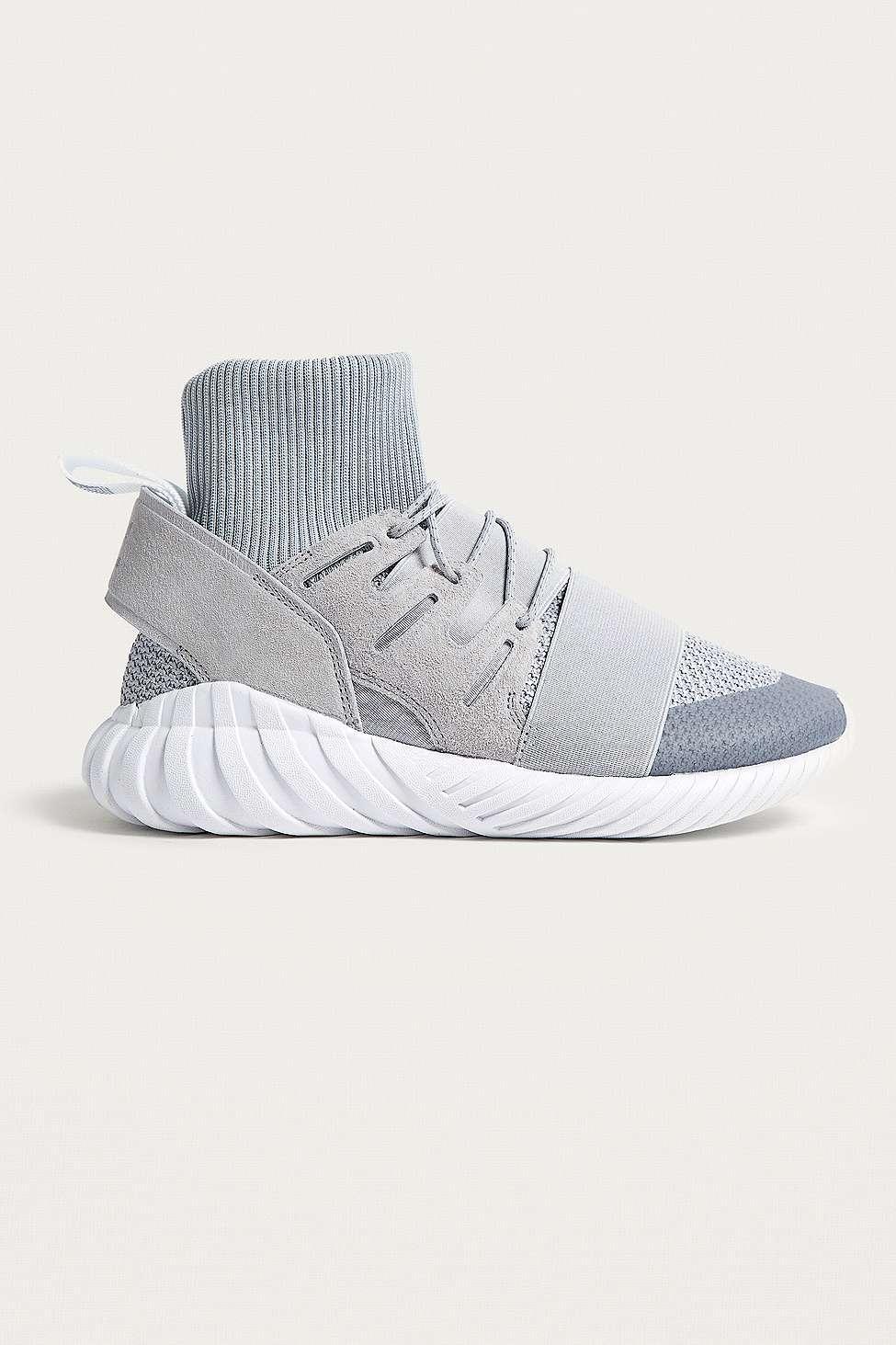 adidas originali tubulare doom inverno grey primeknit sock formatori