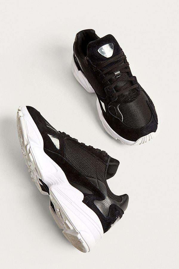 Slide View: 4: adidas Originals - Baskets Falcon Core noires