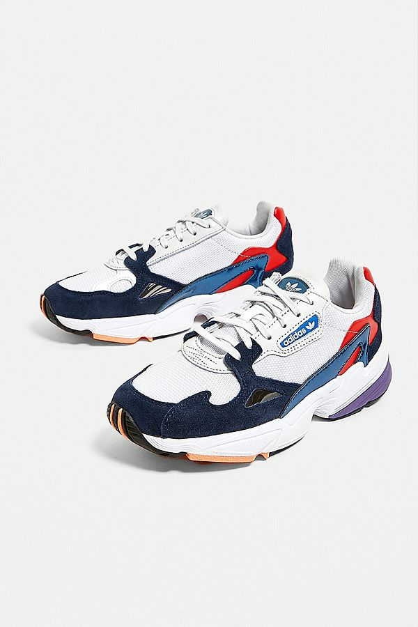 Adidas Originals Falcon Red Blue Trainers Urban Outfitters De