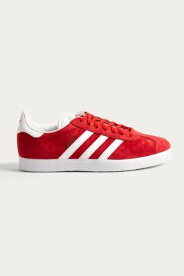 Adidas Originals Gazelle Red Suede Trainers by Urban Outfitters