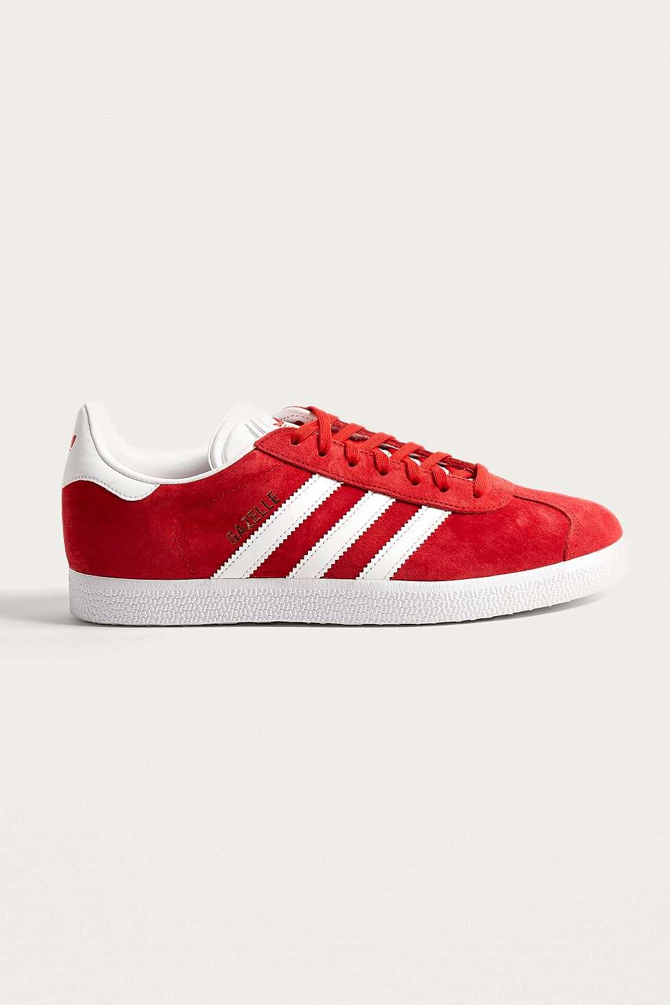 Adidas Originals Formateurs En Daim Rouge Gazelle - Rouge snInN7r