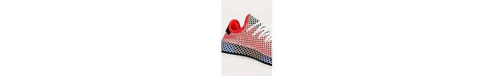 Thumbnail View 3: adidas Originals Deerupt Red Running Trainers