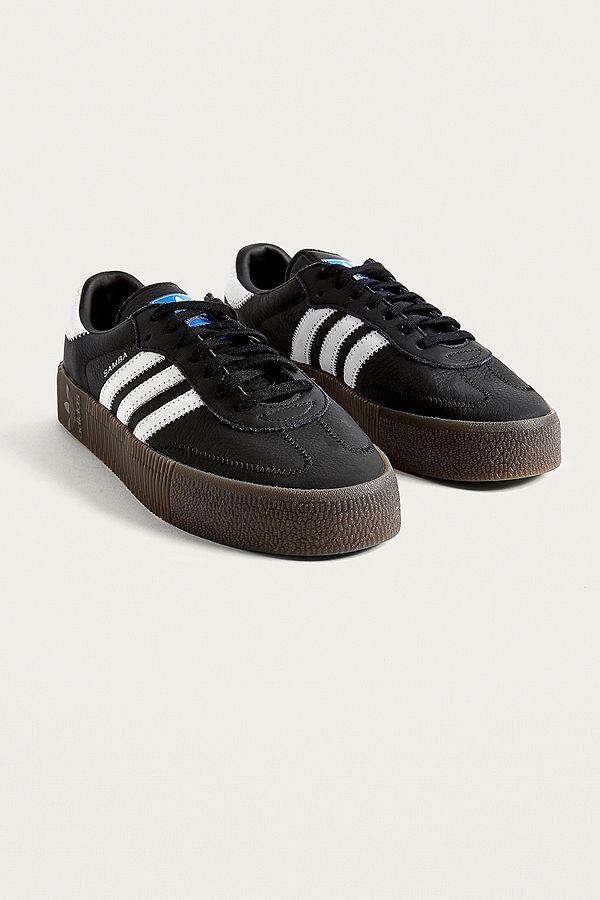 9d07a7352b5 ... official slide view 2 adidas originals samba rose black trainers 2da77  2bf73
