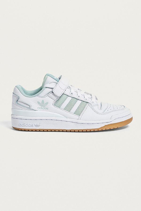 75e4a503635ce adidas Originals - Baskets basses Forum blanches et vert menthe ...
