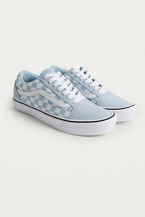 vans pastel blue old skool trainers