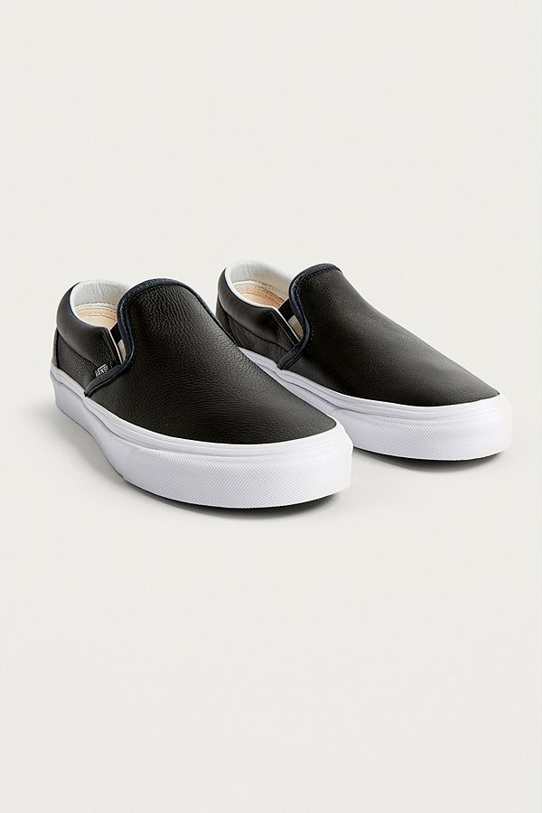 vans leather trainers slip on e76ee58ba