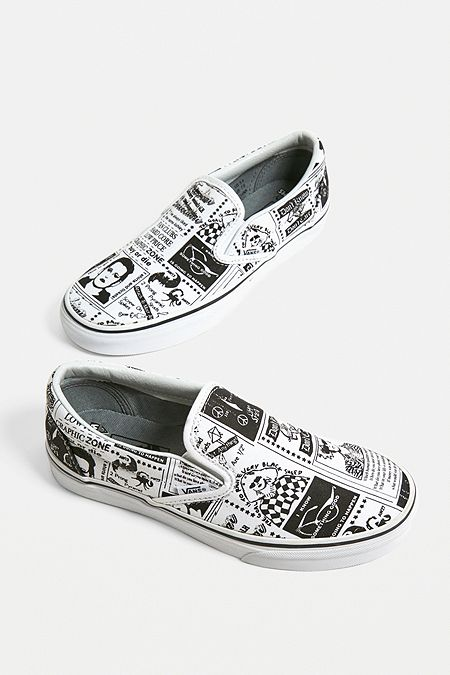 Vans X Ashley Williams Printed Slip-On Trainers f76dc713cd50