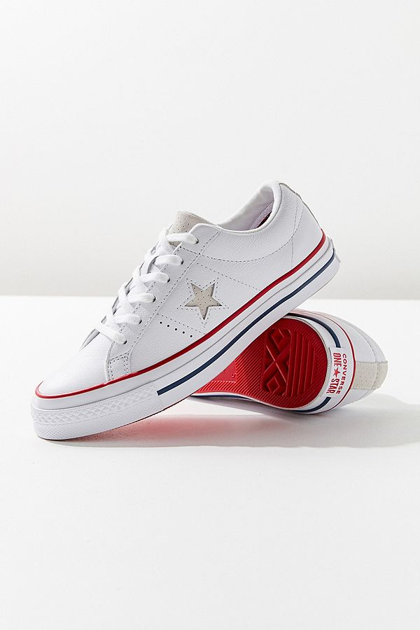 360f651fcc2 ... best slide view 1 converse one star leather trainers aa32f 974dd