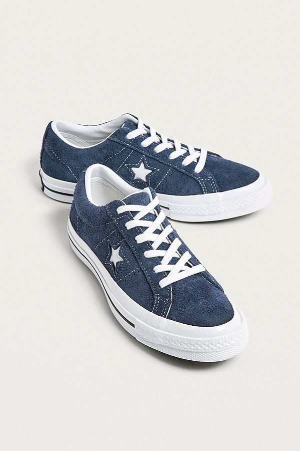Converse One Star Navy Suede Trainers  a45dbcfc2
