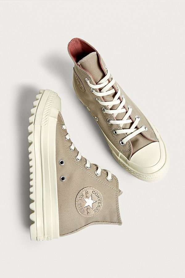 a9e3f83cd2f6c ... netherlands converse chuck taylor all star lift ripple beige high top  trainers 59c7a a0bc8