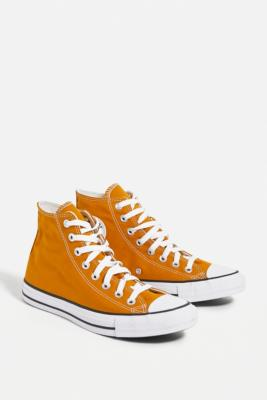 Converse Chuck Taylor All Star Yellow High-Top Trainers - Yellow UK 6 at Urban Outfitters