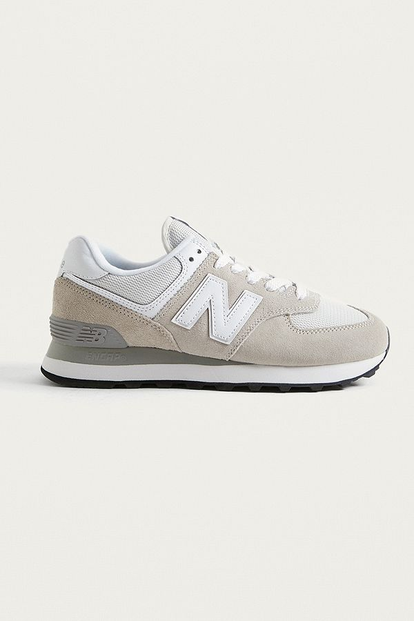 new balance m574 trainers grey off white