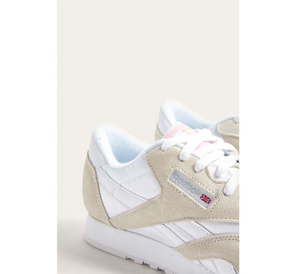 Slide View: 3: Reebok Classic Grey Nylon Trainers