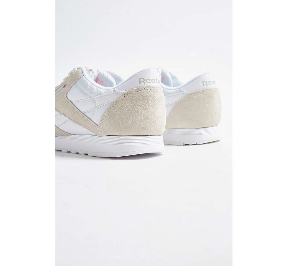 Slide View: 4: Reebok Classic Grey Nylon Trainers